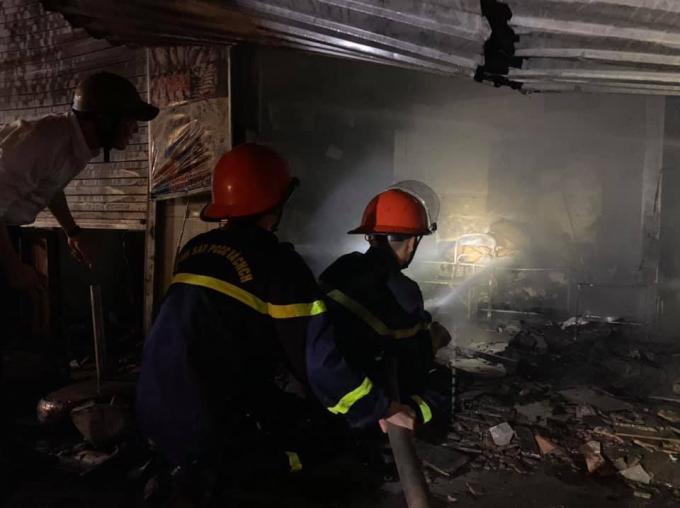 Cháy tại chợ đầu mối TP Vinh, Nghệ An