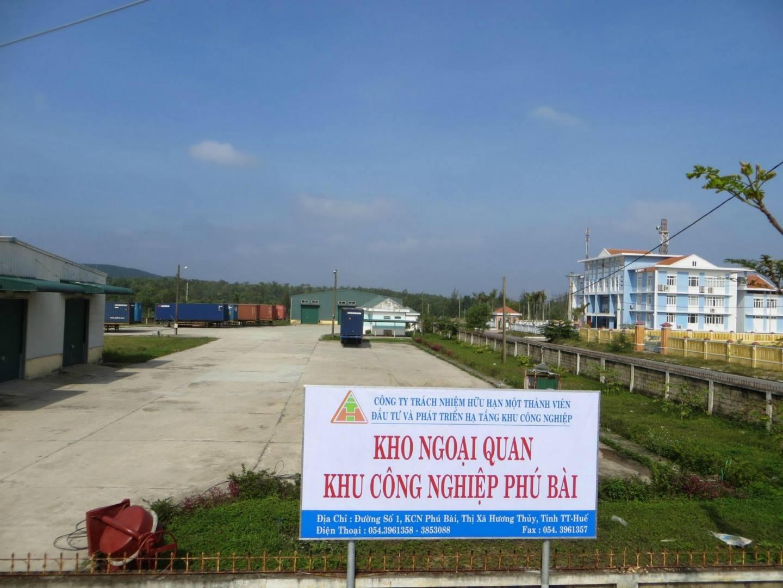 Kho ngoại quan Khu công nghiệp Phú Bài