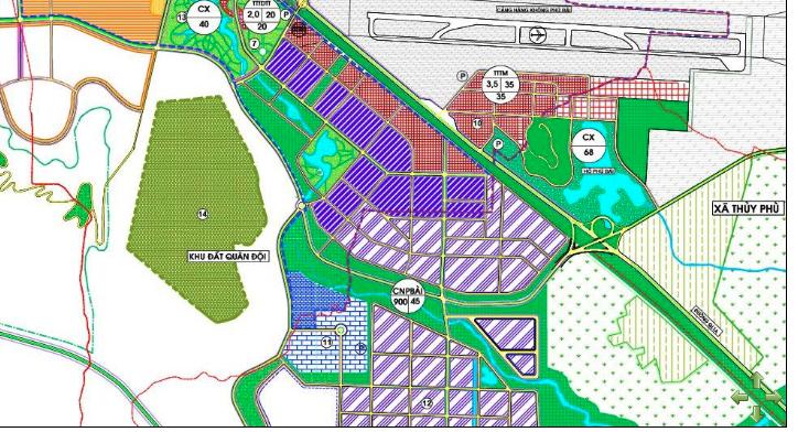 Các lô đất chưa cho thuê tại Khu công nghiệp Phú Bài